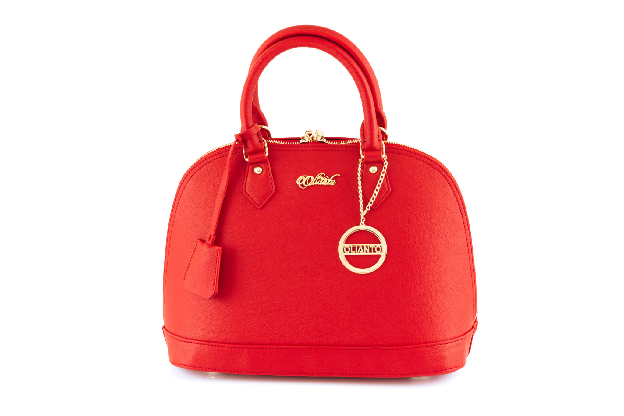 Red handbag from the Olivia collection
