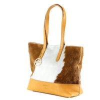 Cowhide leather shoulder handbag