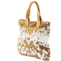 Cowhide large leather tote bag