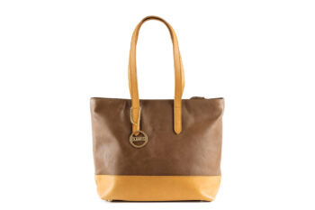 Mocha Leather Shoulder Handbag