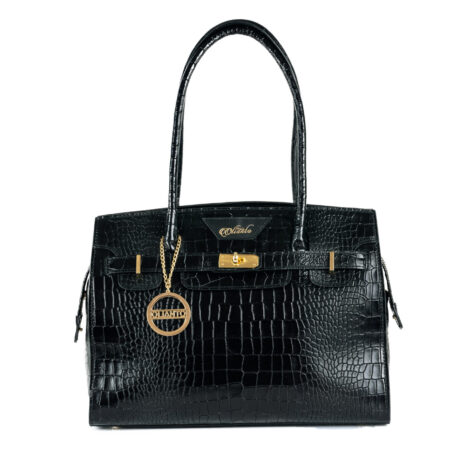 Croc Leather Handbag