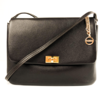 Dark Brown Leather Crossbody Bag