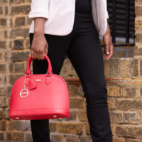 Flame Scarlet Red handbag from the Olivia collection